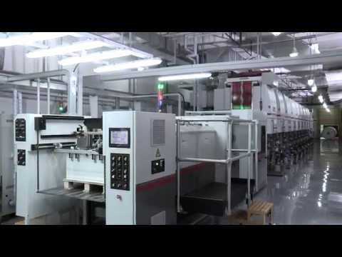 BOBST LEMANIC DELTA Gravure printing press (видео)