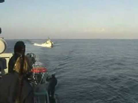 Swedish navy engaging the Norwegian navy off the coast of Lebanon