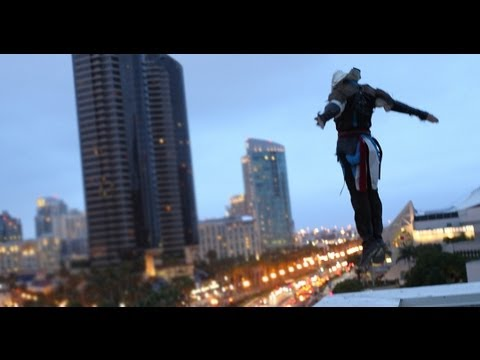 Assassin's Creed 4 Meets Parkour in Real Life – Comic-Con – 4K