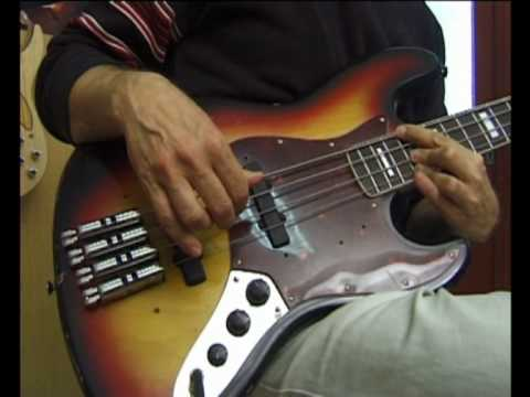 Neuser Fretless System bass solo demonstration