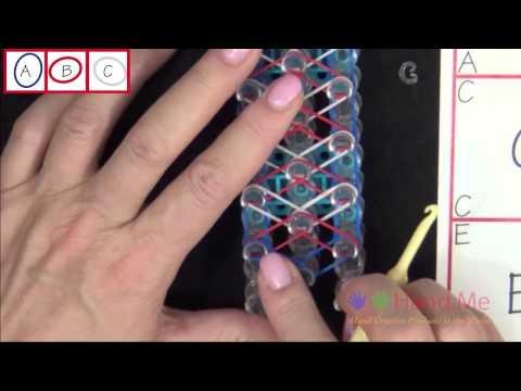 How to make a Rubber Band Liberty Twist Bracelet – Medium Level