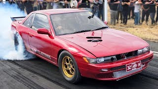 1500HP 2JZ Silvia, FWD wheelie bar, Turbo LS Commodore, and MORE! by 1320Video