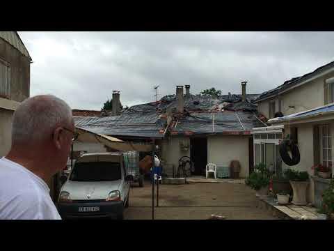 Le vent du 28 Août a débaché les toitures de Saint Sornin