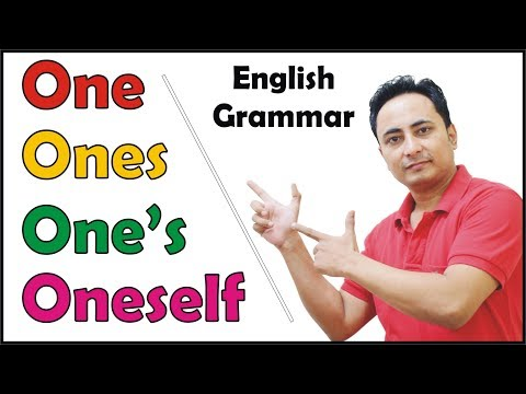 One Ones One's Oneself in English Grammar | Use of Indefinite Pronoun ONE by Spoken English Guru
