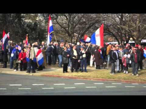 Canberra Protest 17.07.2011- Free Croatian Generals Ante Gotovina & Mladen Markac
