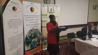 Mrs Anna Tinarwo from the ONHRI gives an update on the progress made in operationalising the NPRC