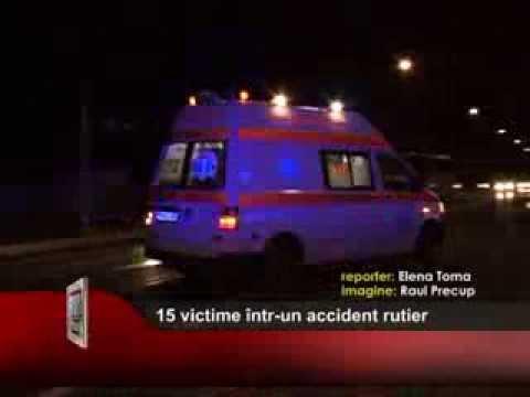 15 victime într-un accident rutier