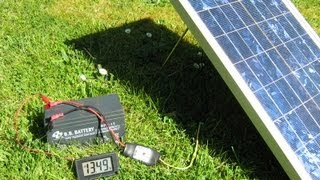 Solar Power System with 20W Panel, PWM5 controller and SLA Gel Battery