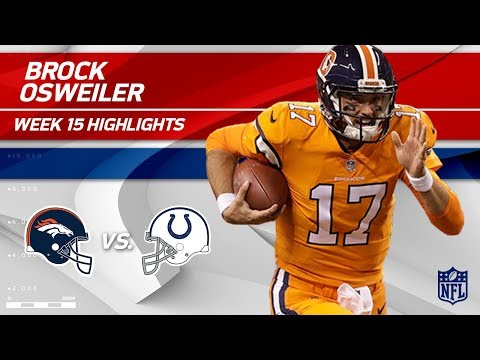Video: Brock Osweiler Steps In & Gets the Win w/ 3 TDs vs. Indy! | Broncos vs. Colts | Wk 15 Player HLs