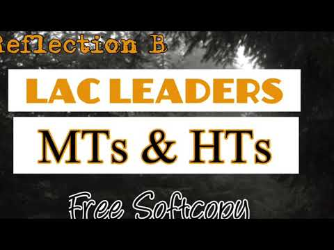 Reflection B for LAC Leaders MTs & HTs