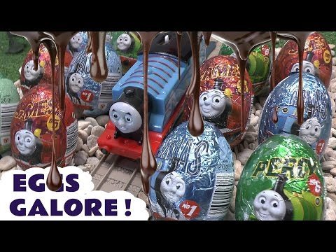 Thomas - We have Thomas and Friends Surprise Eggs everywhere in this video. 20 Surprse eggs in total and all involve Thomas engines in some shape or form. There are q...