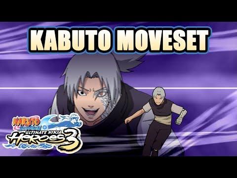 Naruto Ult. Ninja Heroes 3 - Kabuto Possessed/ Normal Moveset [PSP]