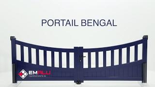 Portail aluminium 2 battants EMALU - Bengal