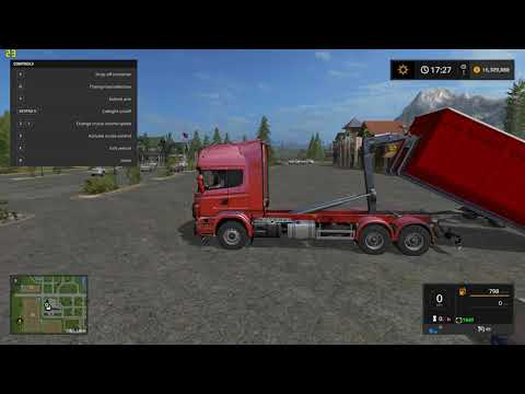 Scania V8 hook lift with rail trailer v1.0.4.2