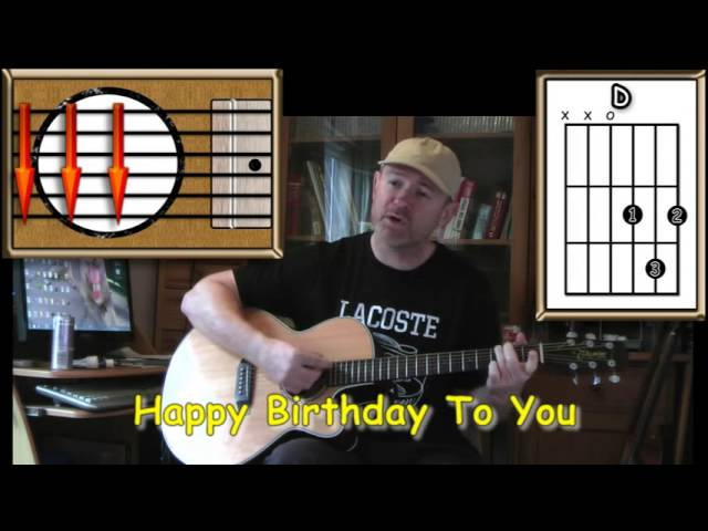 how to play happy birthday on guitar easy