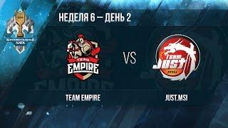 Empire vs Just, game 1