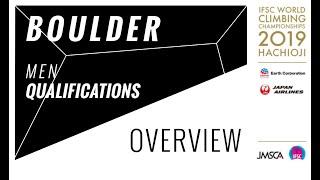 IFSC Climbing World Championships Hachioji 2019 - Boulder - Men's Qualifications Overview by International Federation of Sport Climbing