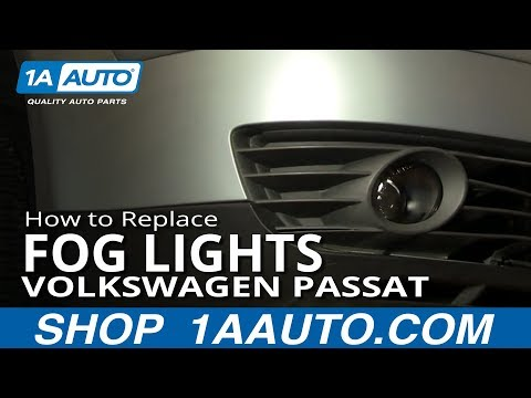 How To Install Replace Fog Light and Bulb Volkswagen Passat 02-05 1AAuto.com