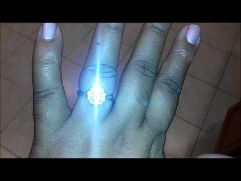 JTV Moissanite Fire (Tm) Halo Style Ring