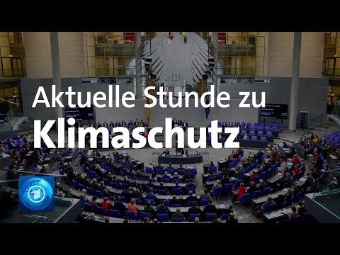 Aktuelle Stunde im Bundestag zum Klimaschutz