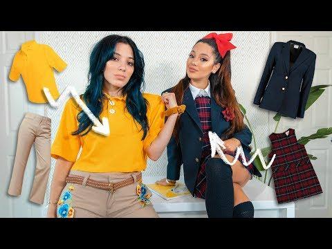 School Uniform Makeover Challenge ~Transforming 4 Types of Uniforms~