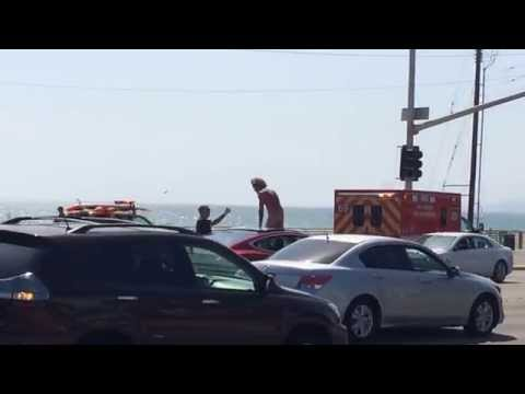 his - Man goes crazy on PCH.