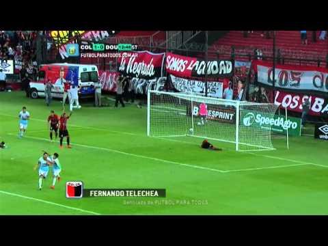Gol de Telechea. Colón 1 – Douglas Haig 0. Fecha 10. Torneo Primera División 2014