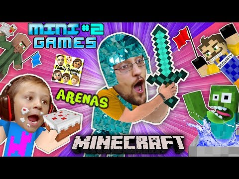MINECRAFT MINI-GAMES #2 Batman vs FGTEEV Chase ARENA BATTLE & Hello Neighbor Carnival Challenge Map (видео)