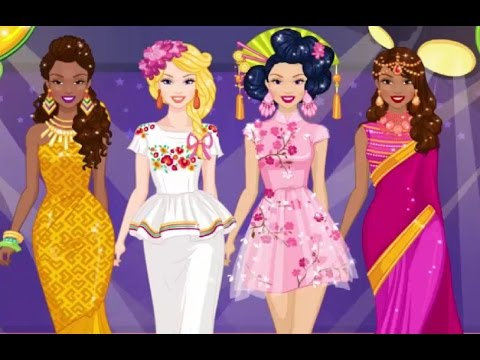 Around The World Fashion Show - Barbie Dress Up Game For Girls
