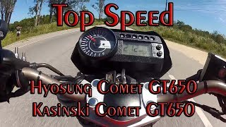 5. Nani7, HYOSUNG COMET GT650 TOP SPEED 212 KM/h 132MPH