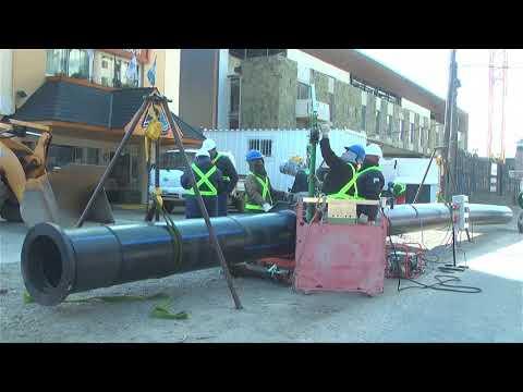 En Bariloche, avanza a buen ritmo la obra del colector cloacal sobre Bustillo 04 09