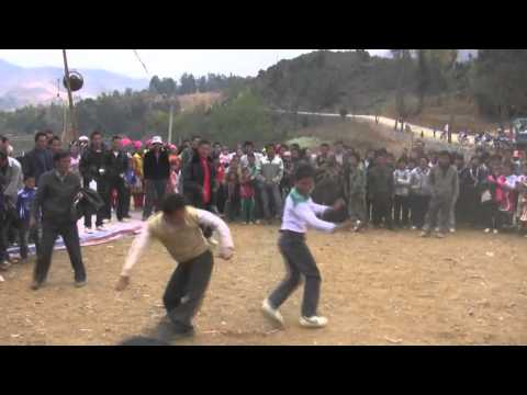 Hmong suav new year kick match for fun