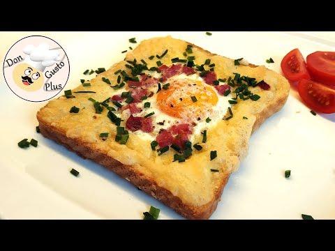 Herzhaftes Spiegelei-Toast mit Schinken und Käse || Heißluftfritteuse (Airfryer) || Rezept