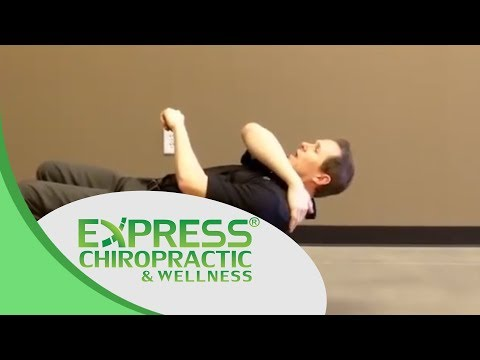 Chiropractor Keller Express Tip – Upper Body Stretching on Exercise Ball