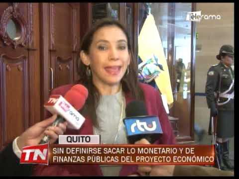 Sin definirse sacar lo monetario y de finanzas públicas del proyecto económico