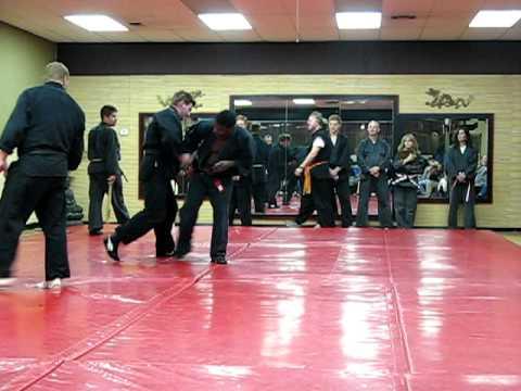 Goshin Jujitsu – black belt test round robin techniques