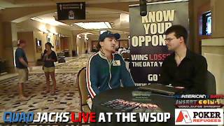 Fabio Coppola Adattarsi Alla World Series QuadJacks Live At The WSOP July 8, 2012