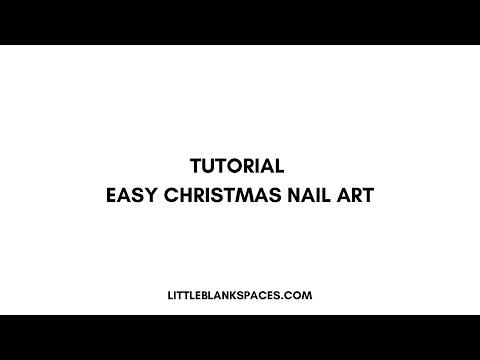 Nude Christmas nail art tutorial | Easy Christmas Nail Art (видео)