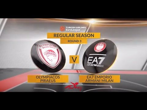 EuroLeague Highlights RS03: Olympiacos Piraeus 91-81 EA7 Emporio Armani Milan