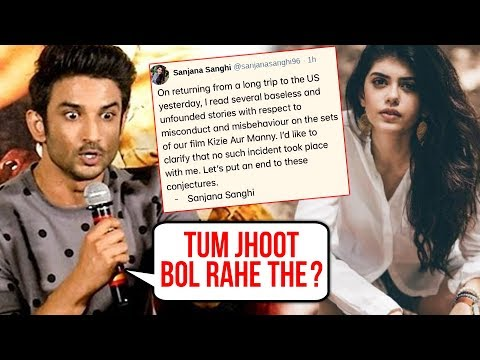 Sanjana Sanghi REACTS On Accusing Sushant Singh Rajput Of Sexual Harassment