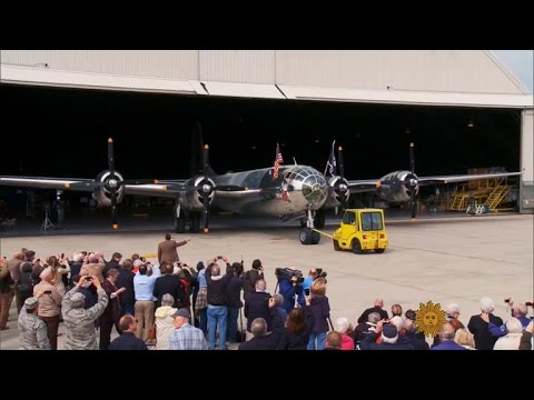 The last flying B-29 fortress is fully restored, including help by an original factory worker who helped build it in 1945