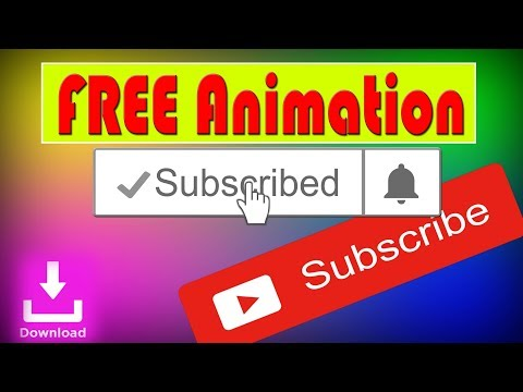 SUBSCRIBE and Notification Bell intro With Sound | FREE to use