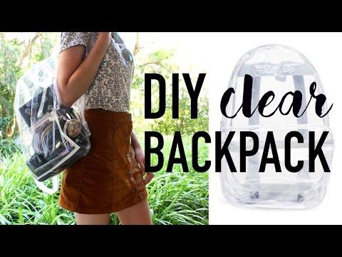 DIY Transparent Bag / Backpack ~ DIY DUPES #3 (видео)