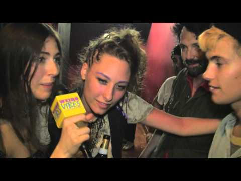 Caroline Polachek - from Weird Vibes [http://weirdvibes.mtvhive.com] Chairlift's Caroline Polachek backstage at Primavera Sound pre-show in Barcelona, vibing with Cole Smith of ...