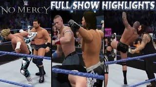 WWE 2K16 NO MERCY 2016 FULL SHOW - PREDICTION HIGHLIGHTS