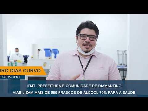Produção de Álcool 70% pelo IFMT - Campus Avançado Diamantino
