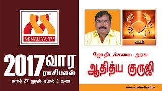 கடகம் : ஆதித்ய குருஜியின் வார ராசிபலன்கள் (27 Mar 17 – 2 Apr 17)