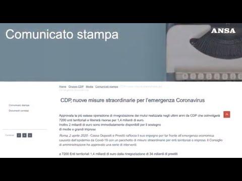 CDP, nuove misure straordinarie per l'emergenza Coronavirus (fonte ANSA)
