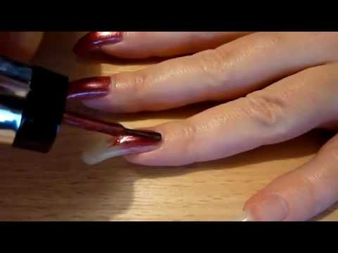 reallongnailsuk paint her long natural fingernails (video 23)