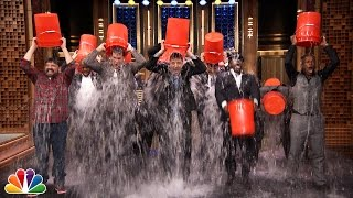Rob Riggle, Horatio Sanz, Steve Higgins, The Roots, &Jimmy Take The ALS Ice Bucket Challenge